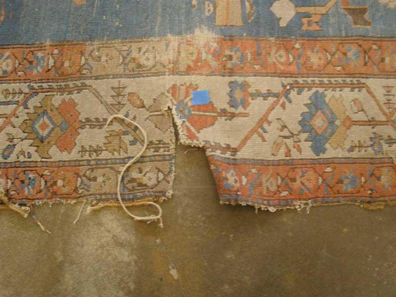 پارگی فرش پس از شستشو