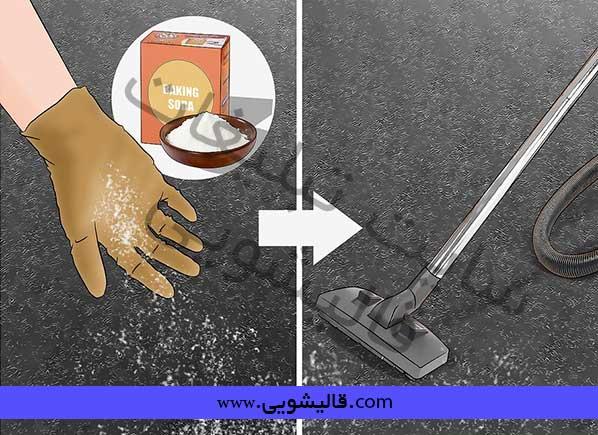 قبل از جارو کردن فرش روی آن شور گیاهی بریزید!