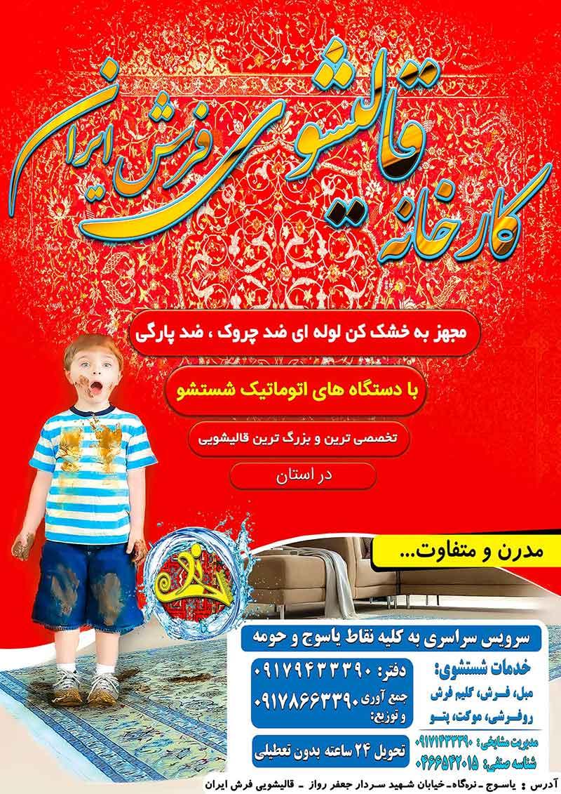 کارخانه قالیشویی فرش ایران