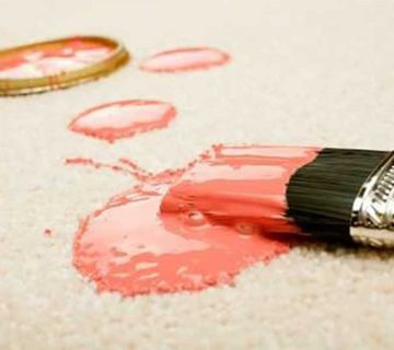 پاک کردن لکه رنگ روغنی از روی فرش